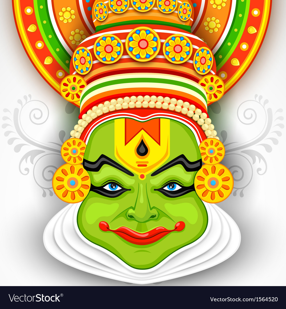 Colorful kathakali face vector   Price: 1 Credit (USD $1)