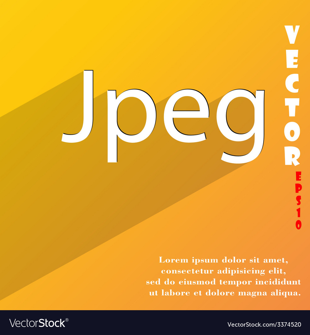 File jpg icon symbol flat modern web design with vector | Price: 1 Credit (USD $1)
