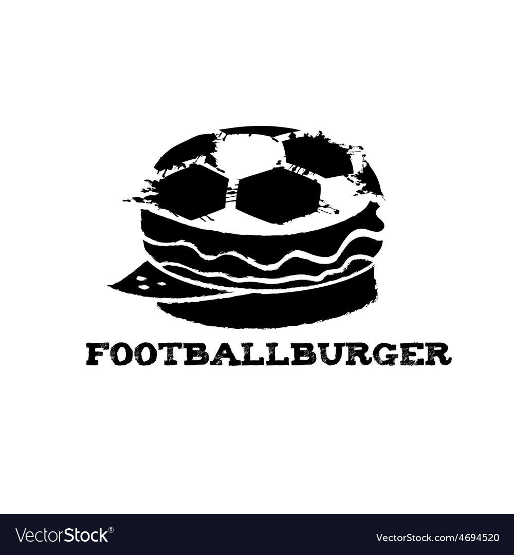 Football burger vector | Price: 1 Credit (USD $1)