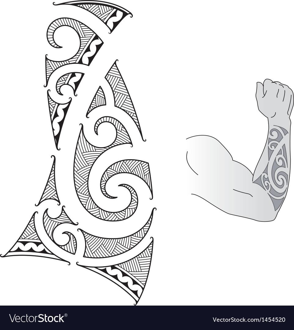 Maori forearm vector | Price: 1 Credit (USD $1)