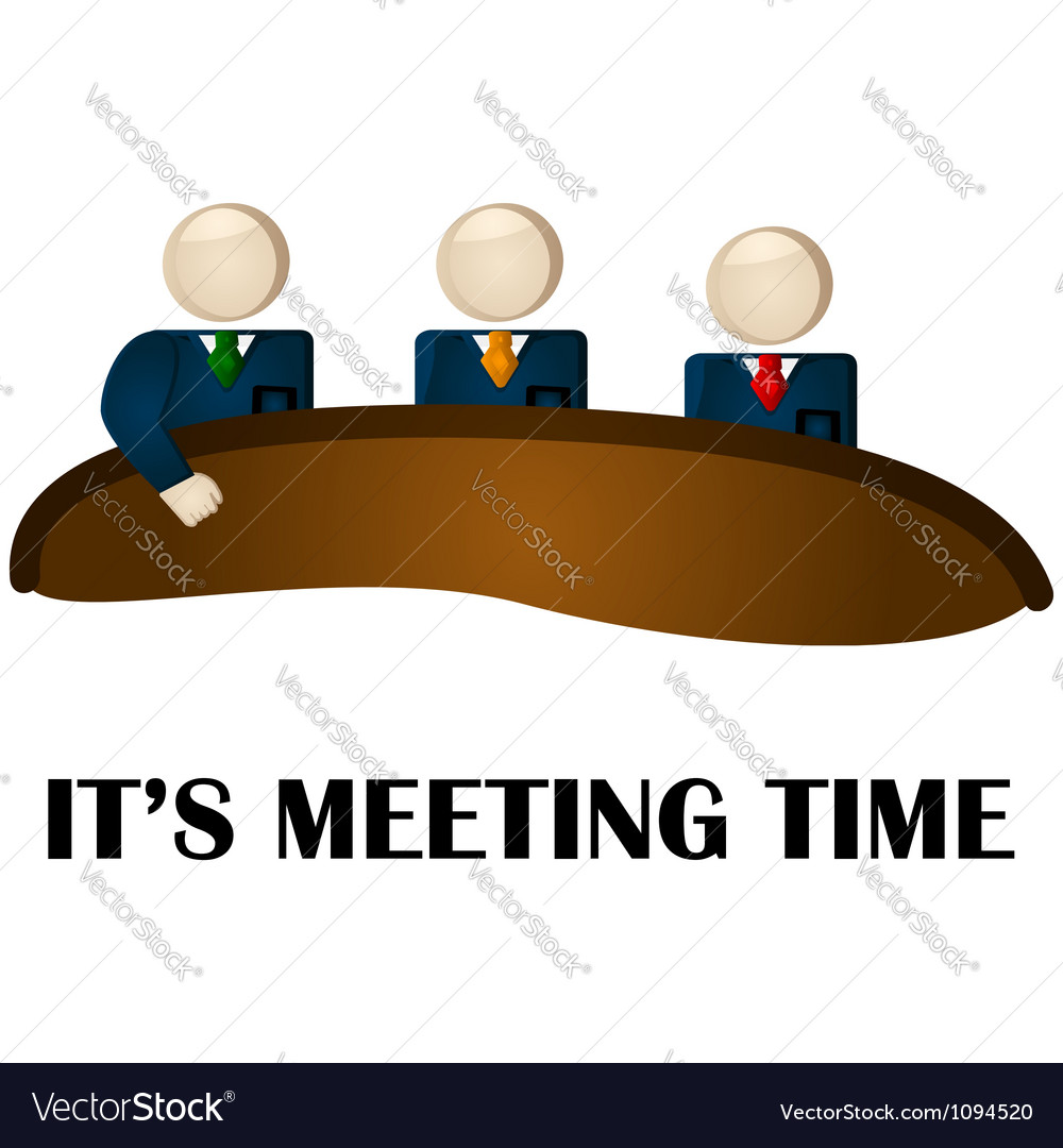 Meeting time vector | Price: 1 Credit (USD $1)