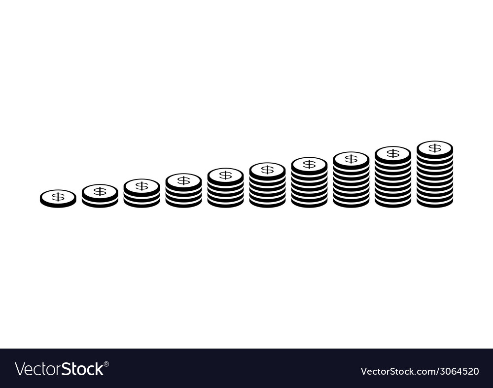 Money coin stack vector | Price: 1 Credit (USD $1)