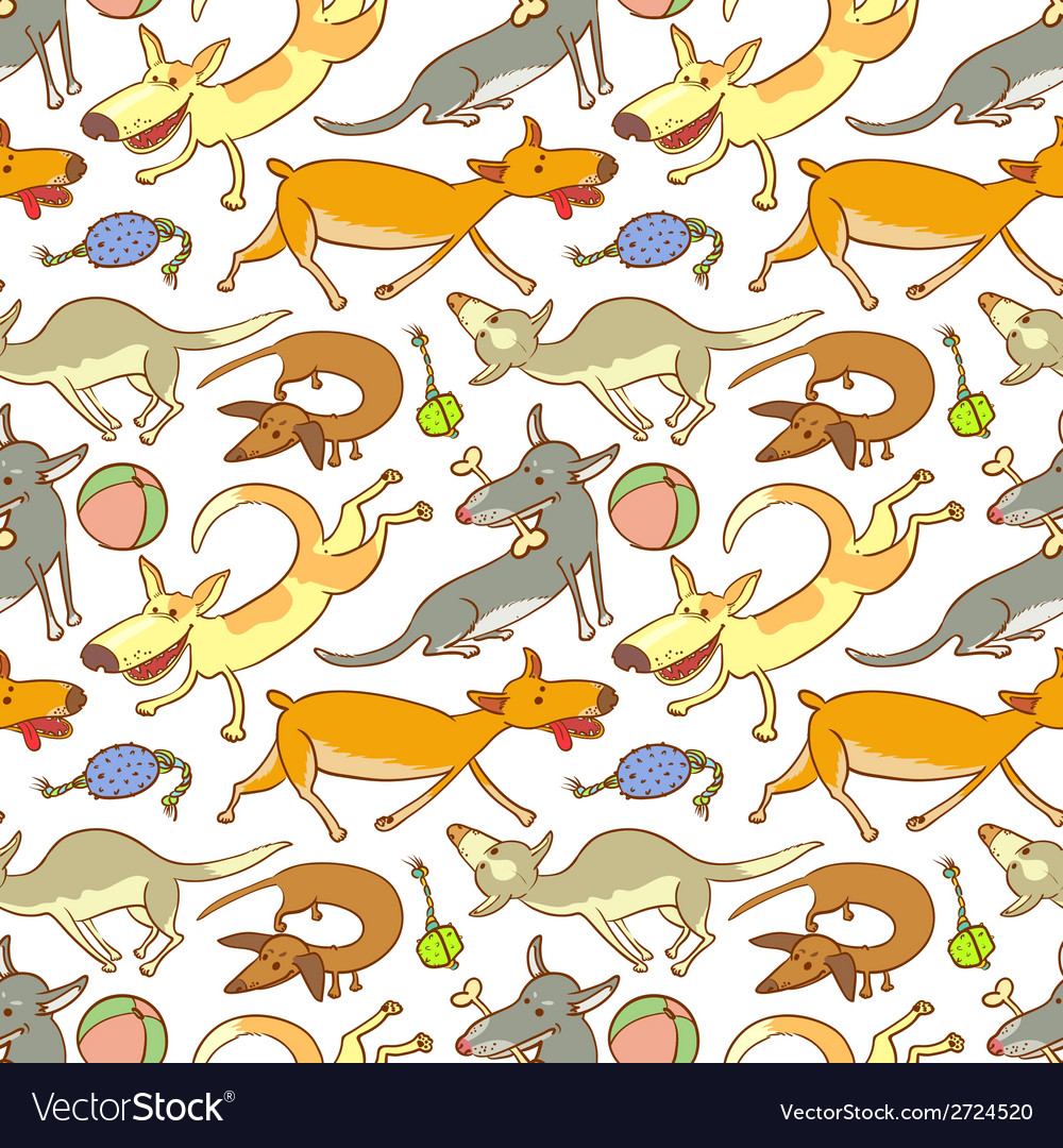 Pattern with dogs vector | Price: 1 Credit (USD $1)