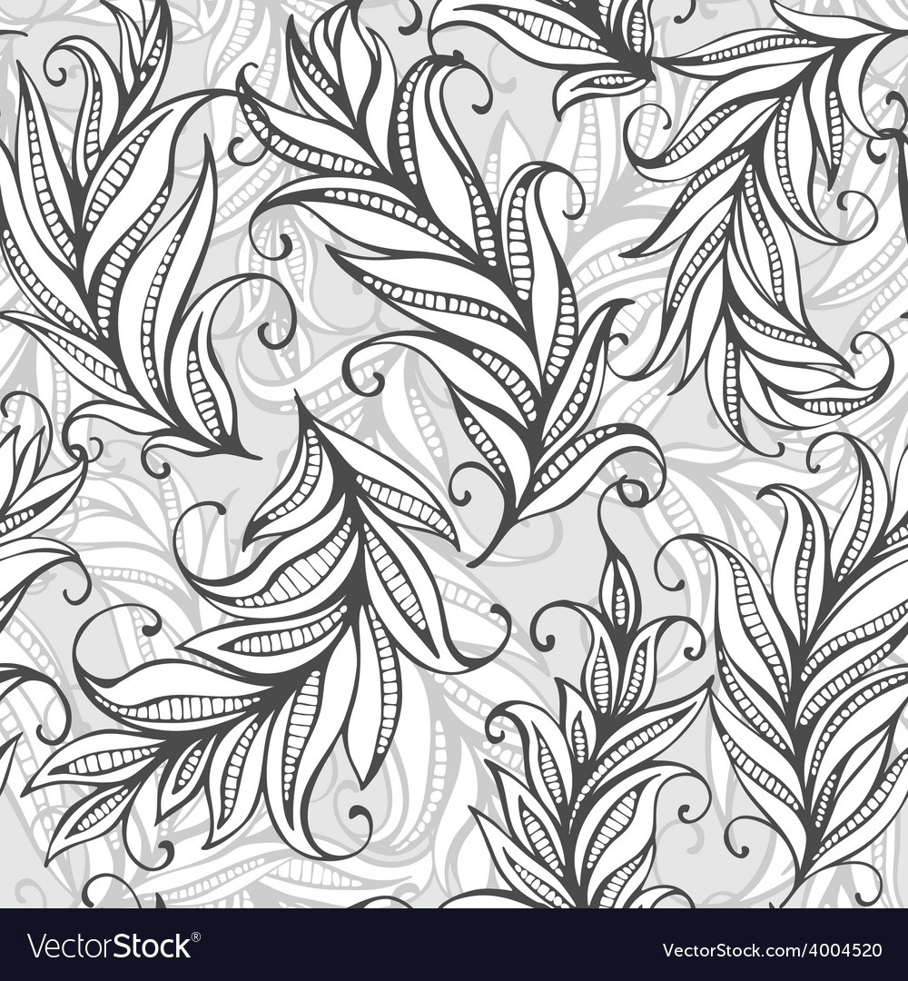 Seamless pattern with amazing feathers vector | Price: 1 Credit (USD $1)