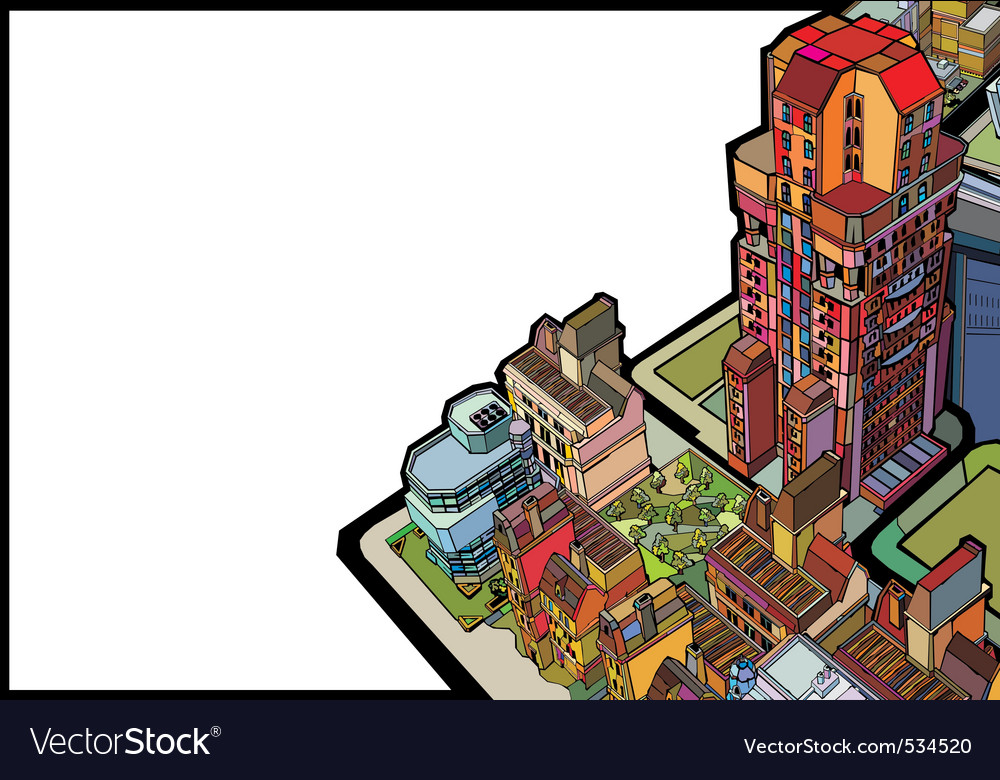 Urban city vector | Price: 3 Credit (USD $3)