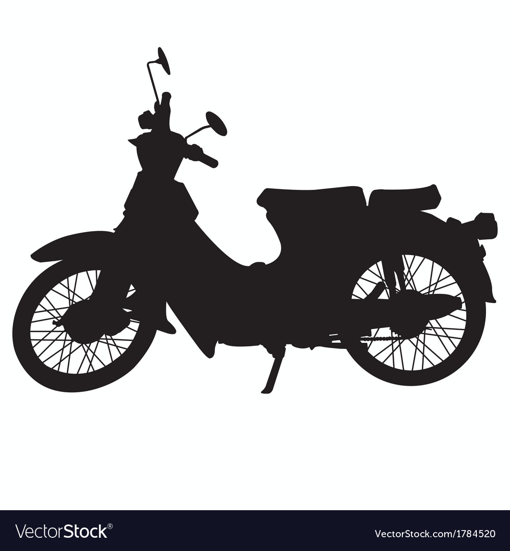 Vintage motorcycle silhouette vector | Price: 1 Credit (USD $1)