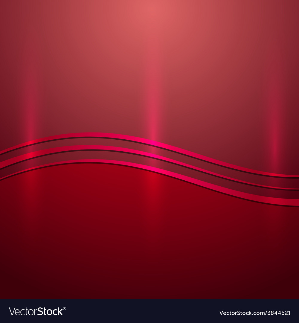 Abstract red metallic background with wave vector   Price: 1 Credit (USD $1)
