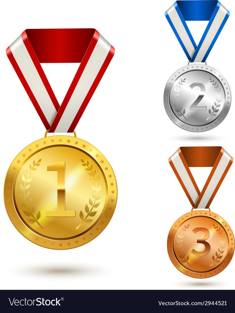 Award medals set vector | Price: 1 Credit (USD $1)