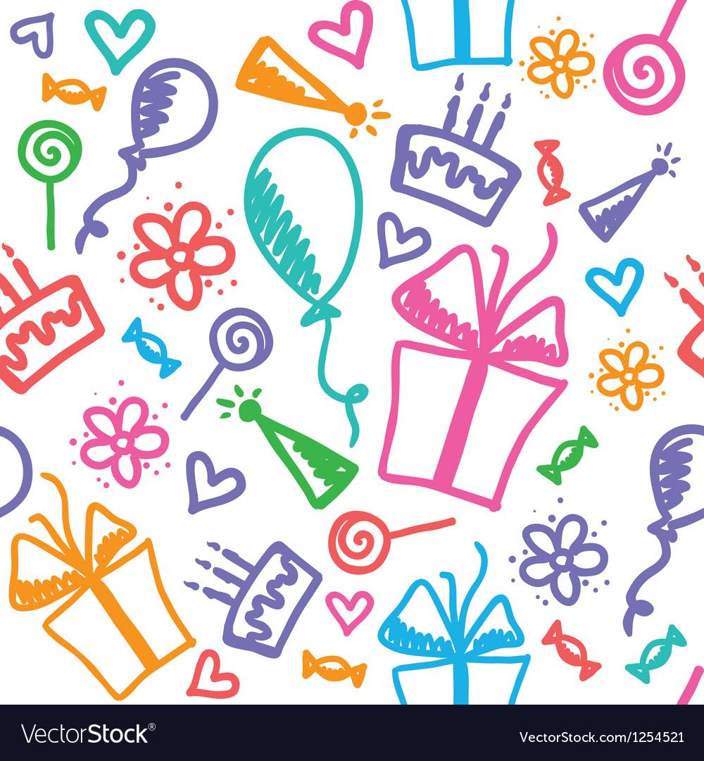 Birthday pattern vector | Price: 1 Credit (USD $1)