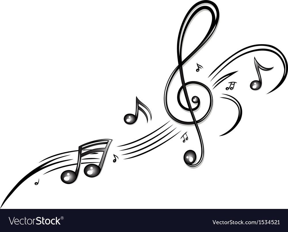 Clef music music notes vector | Price: 1 Credit (USD $1)