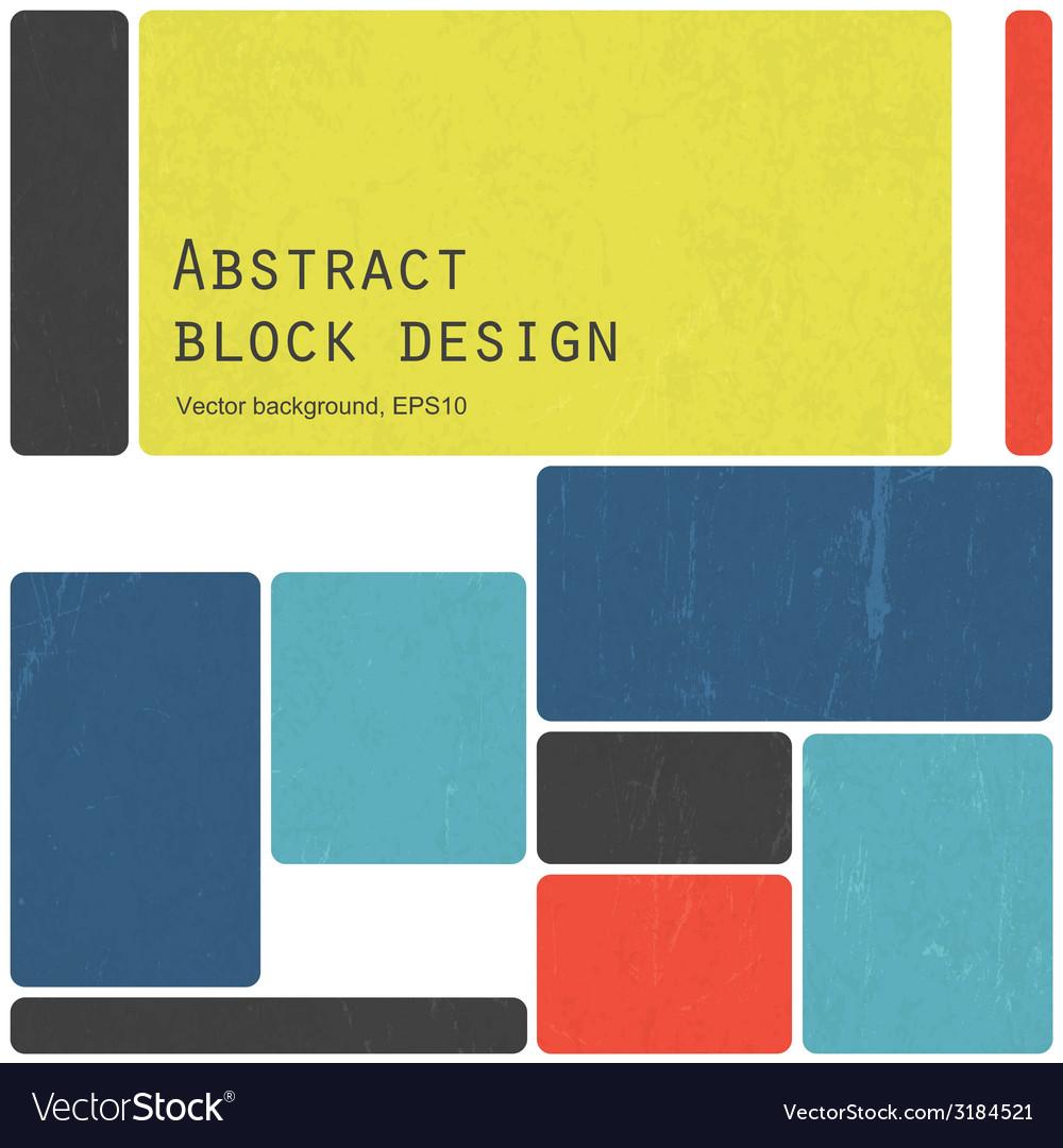 Colorful blocks design vector | Price: 1 Credit (USD $1)