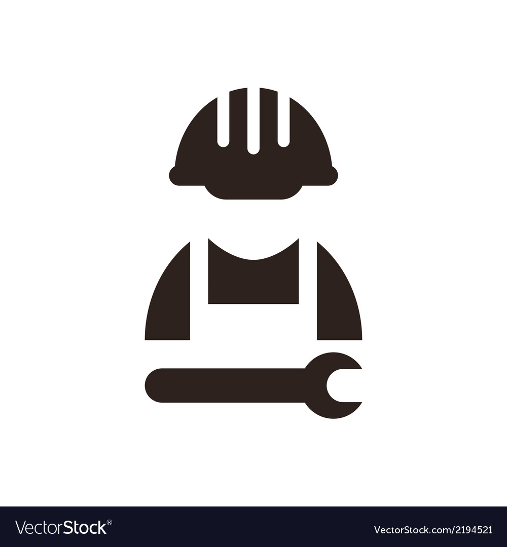 Construction worker icon vector | Price: 1 Credit (USD $1)