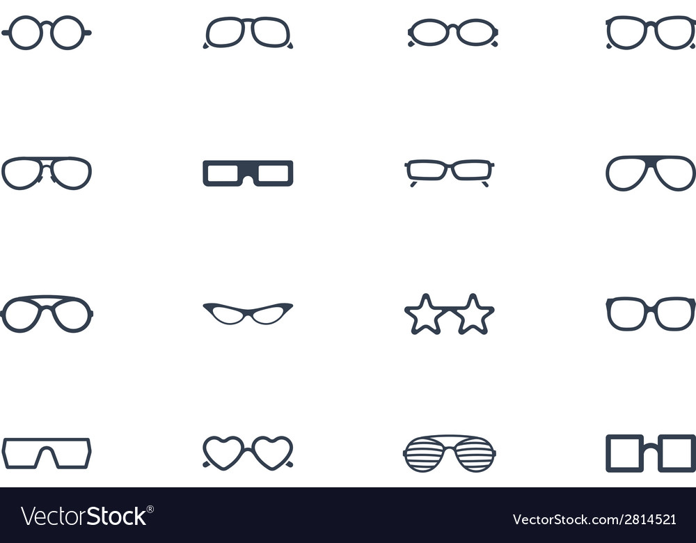 Eye glasses icons vector | Price: 1 Credit (USD $1)