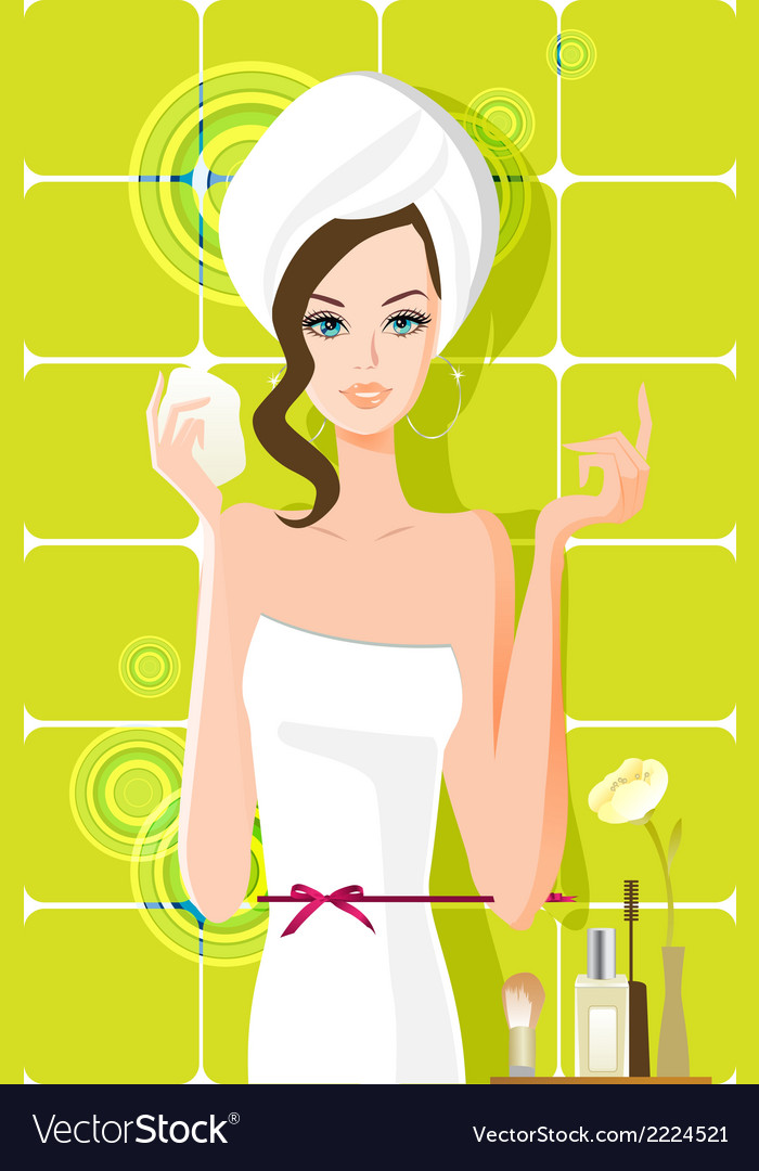 Flow girl vector | Price: 1 Credit (USD $1)