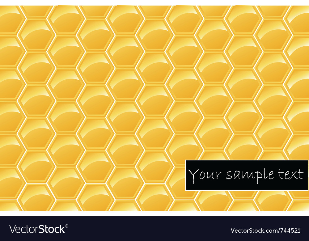 Honeycomb background vector | Price: 1 Credit (USD $1)