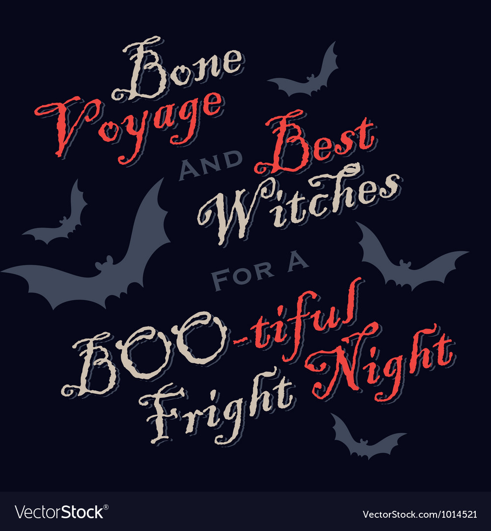 Humorous halloween greetings vector | Price: 1 Credit (USD $1)