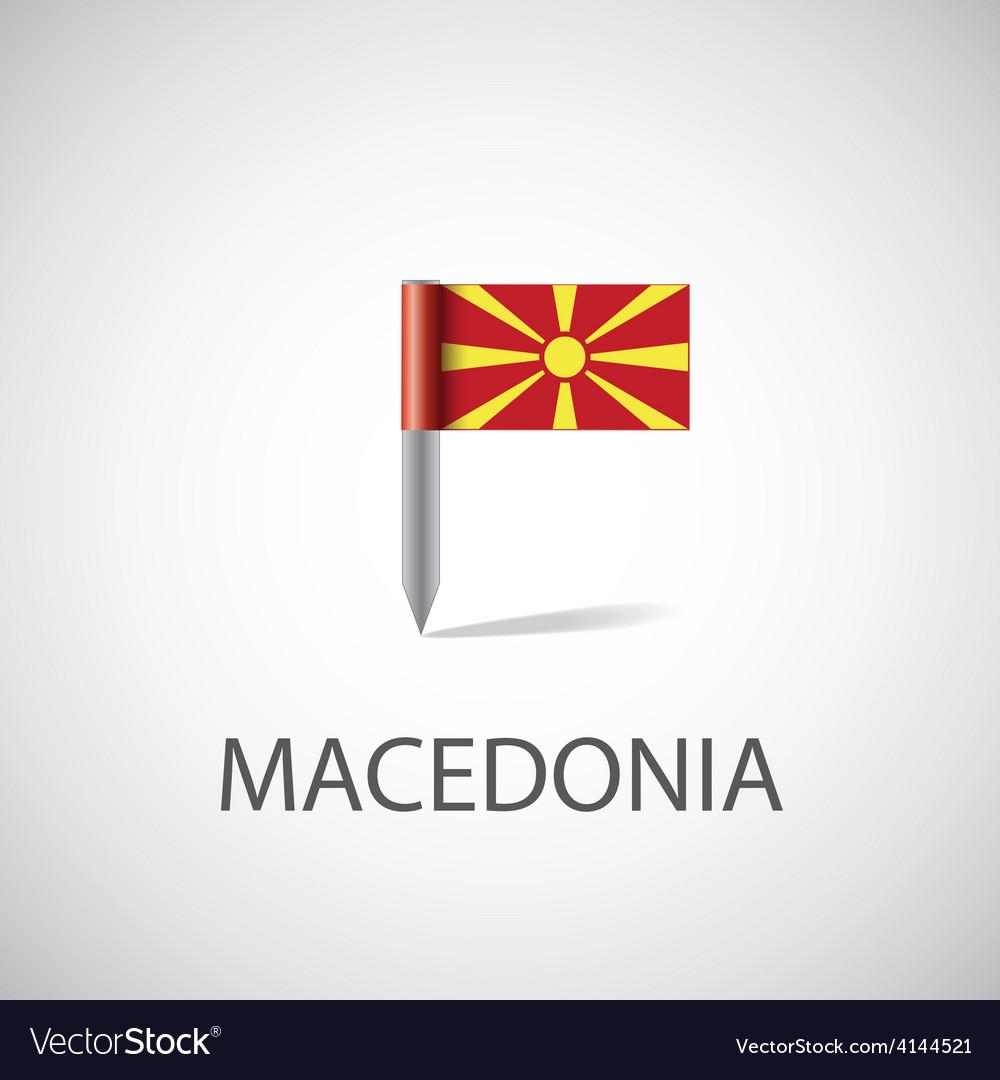 Macedonia flag pin vector | Price: 1 Credit (USD $1)