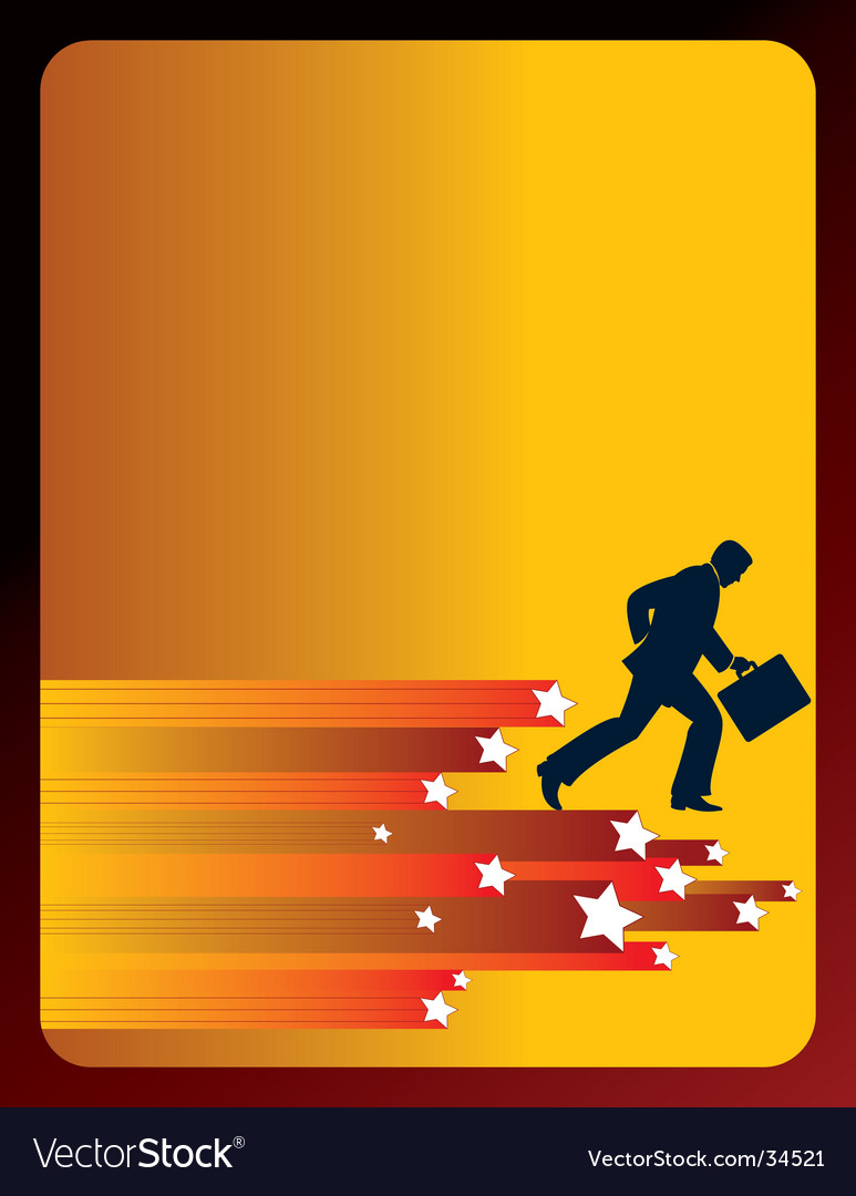 Man with briefcase vector | Price: 1 Credit (USD $1)