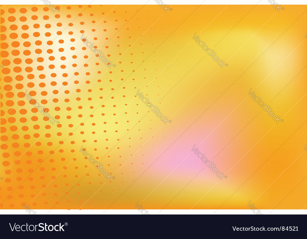 Orange background with halftone elements vector | Price: 1 Credit (USD $1)