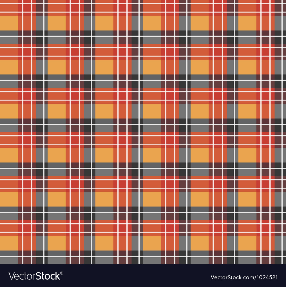 Orange plaid fabric vector | Price: 1 Credit (USD $1)