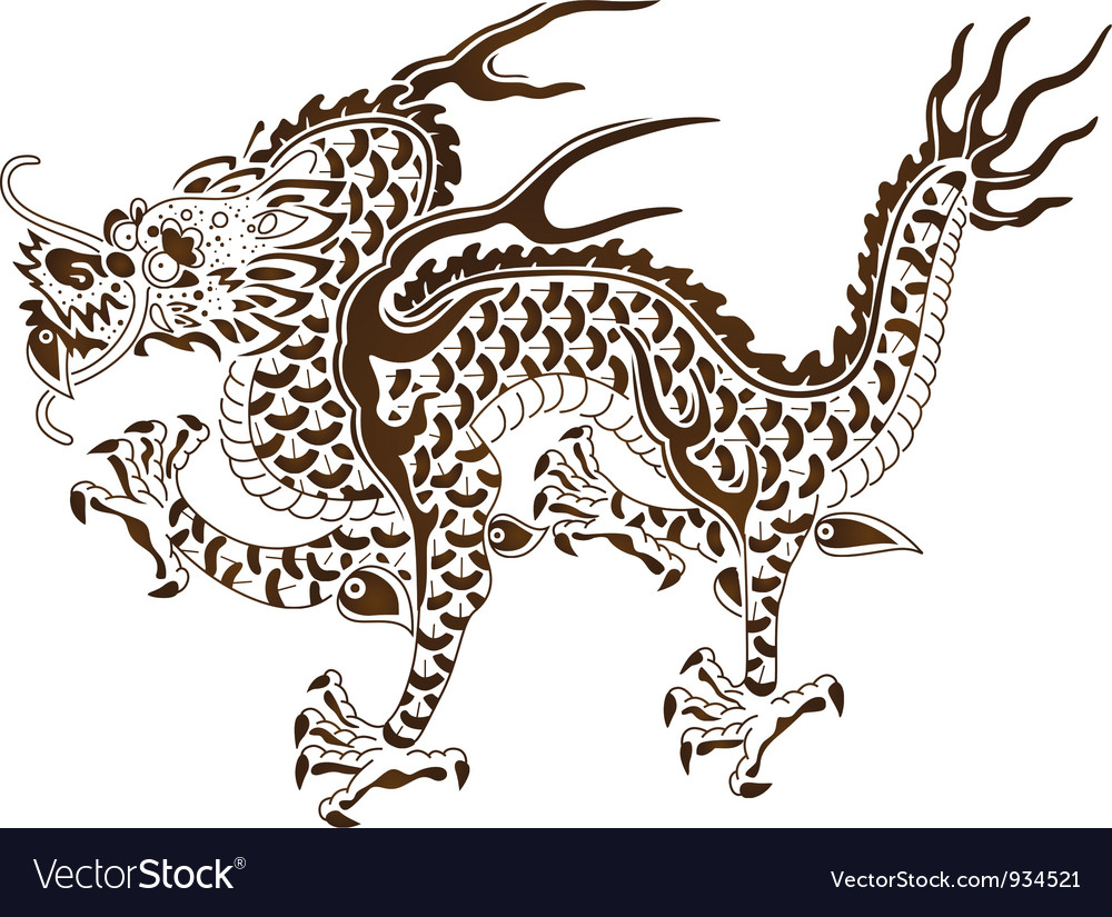The responsive dragon of chinese myth vector | Price: 1 Credit (USD $1)