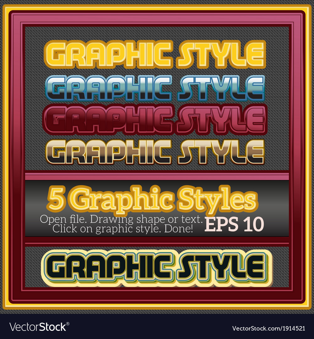 Set of decorative graphic styles for design vector | Price: 1 Credit (USD $1)