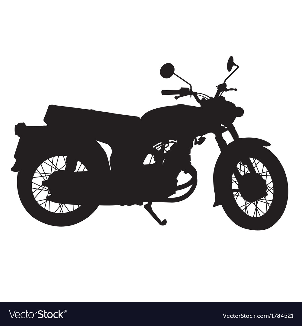Silhouette of vintage motorcycle vector | Price: 1 Credit (USD $1)