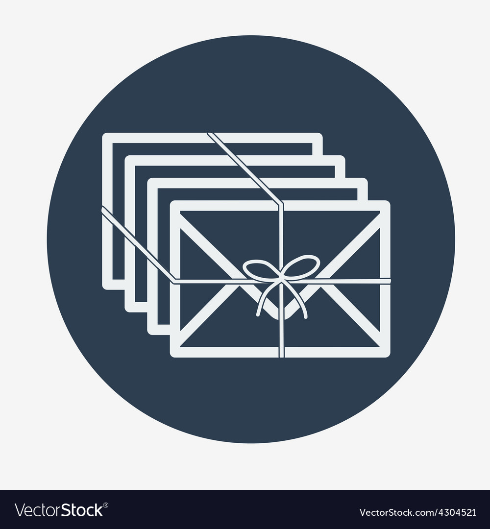 Single flat mail icon vector   Price: 1 Credit (USD $1)