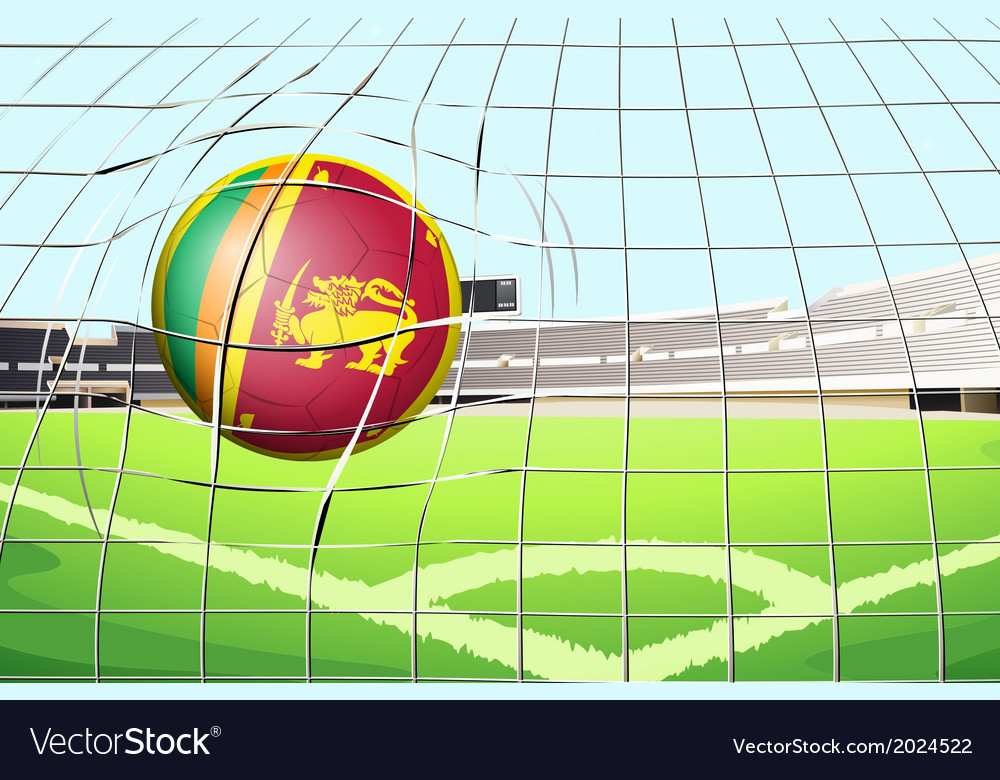 A ball with the flag of sri lanka vector