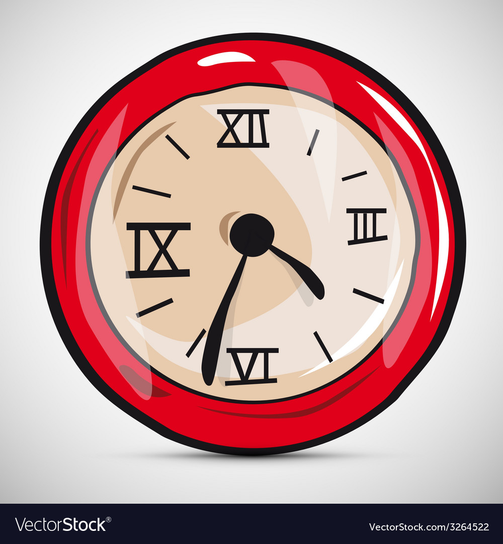 Abstract alarm clock vector | Price: 1 Credit (USD $1)