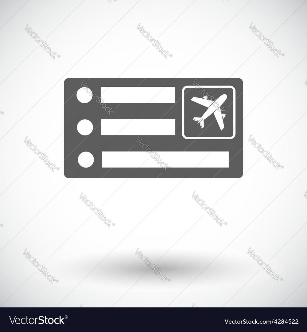 Air ticket vector | Price: 1 Credit (USD $1)