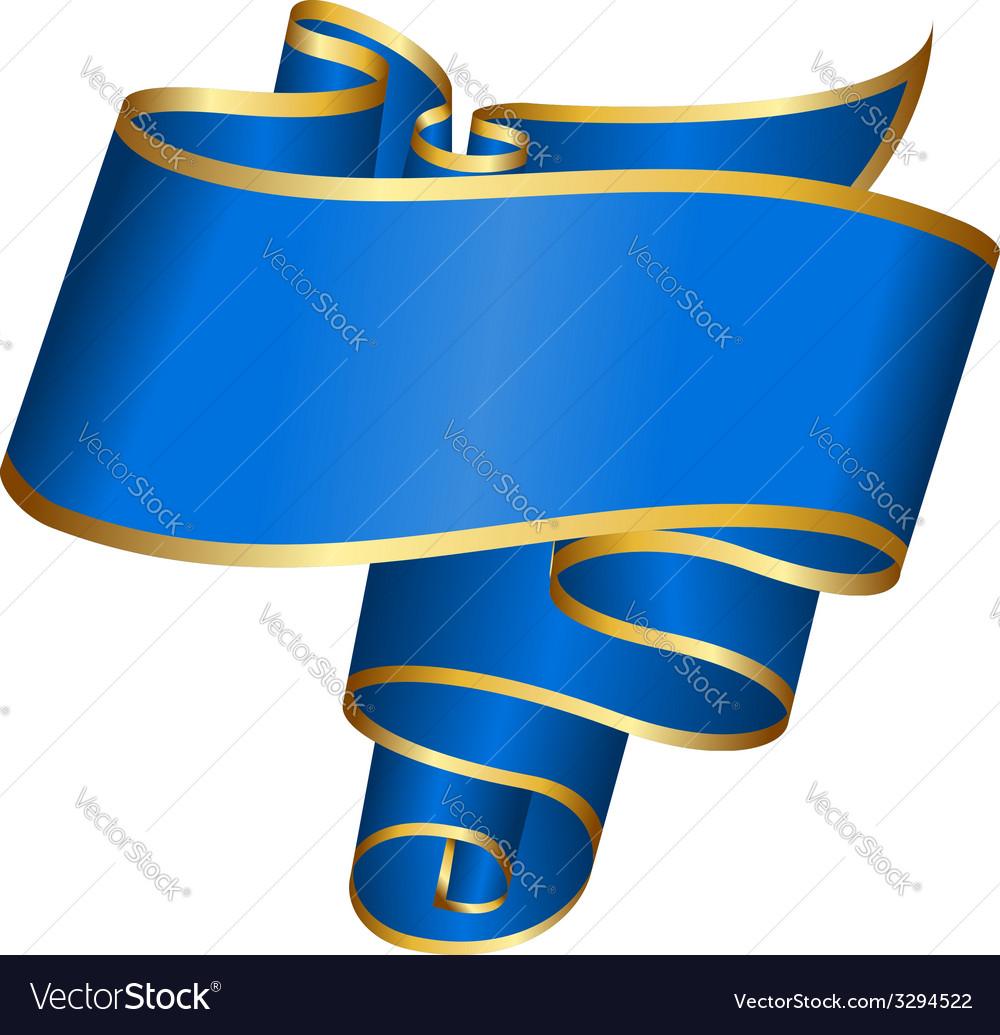 Blue ribbon vector | Price: 1 Credit (USD $1)