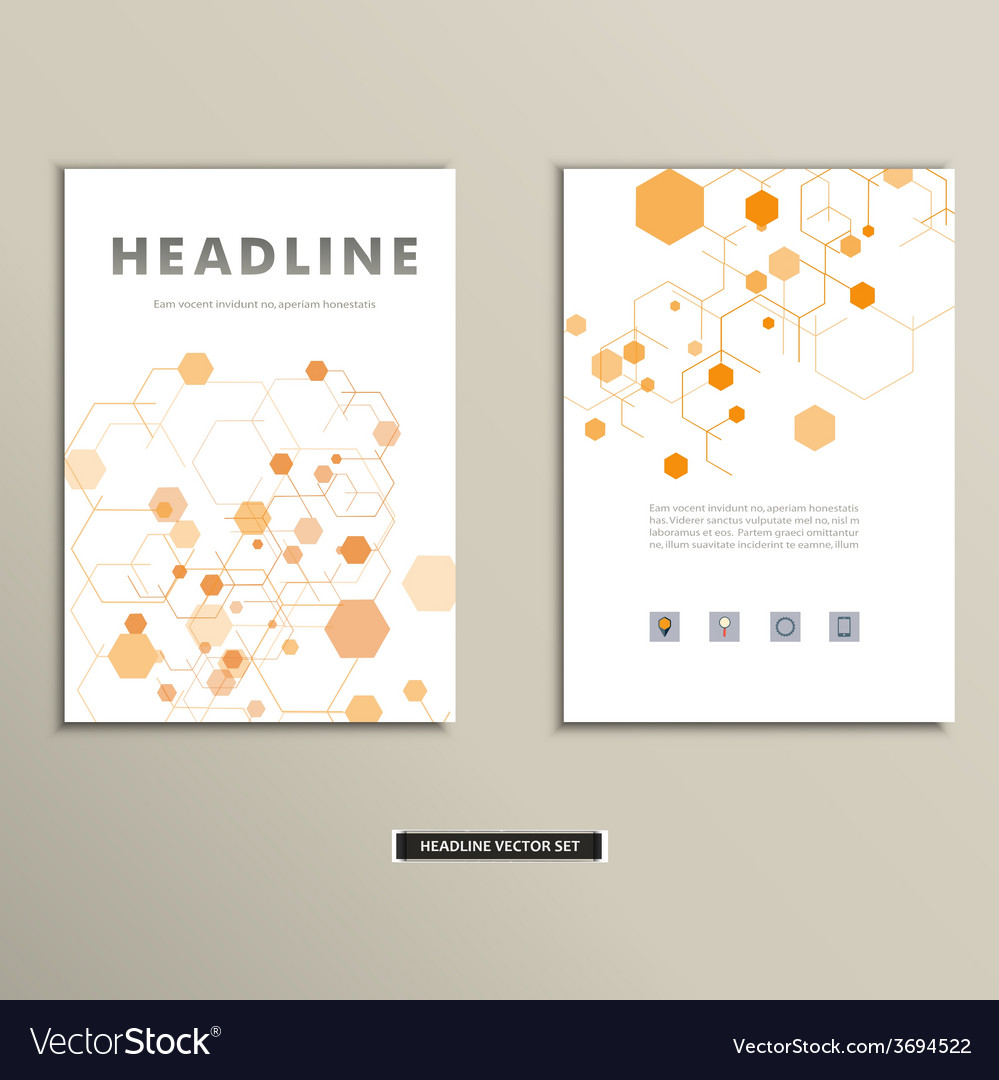 Book cover with abstract figures connected lines vector | Price: 1 Credit (USD $1)