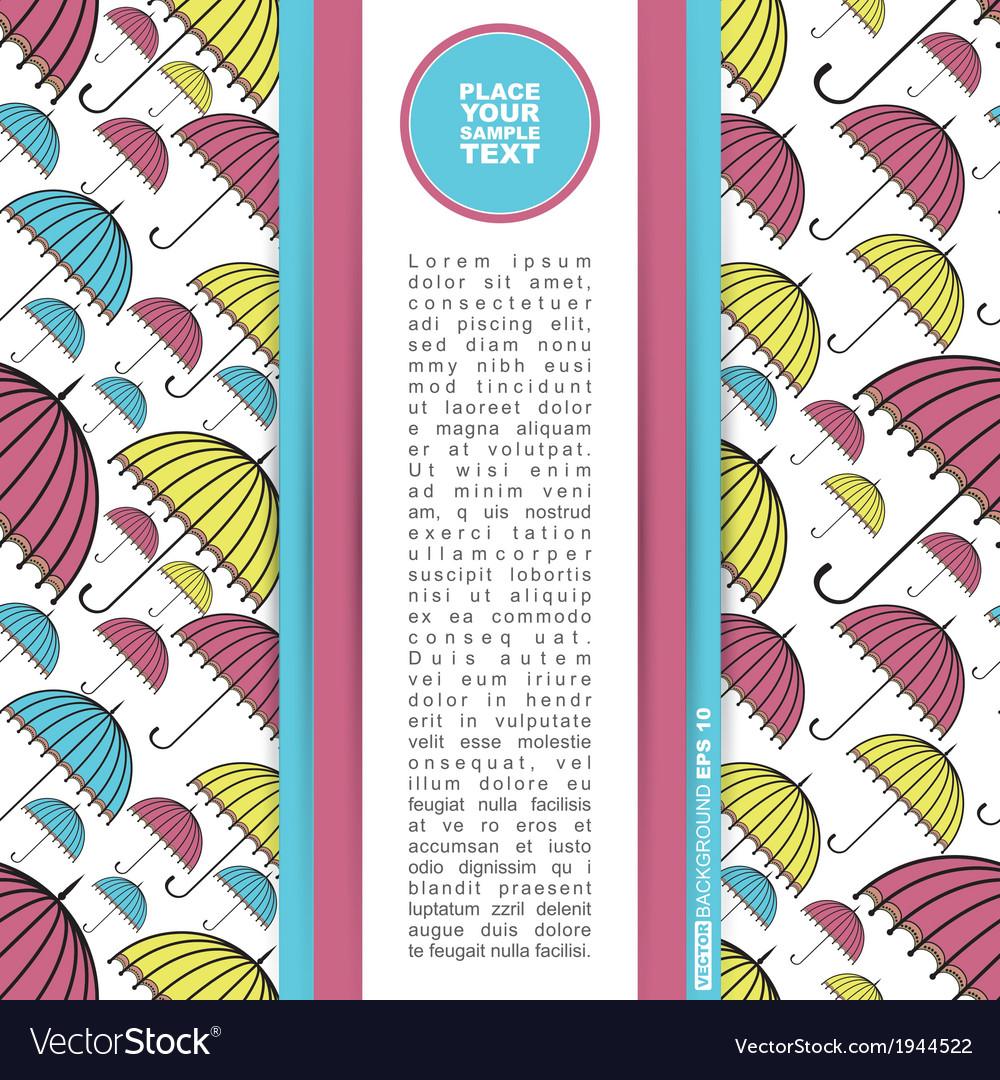 Card with umbrella vector | Price: 1 Credit (USD $1)