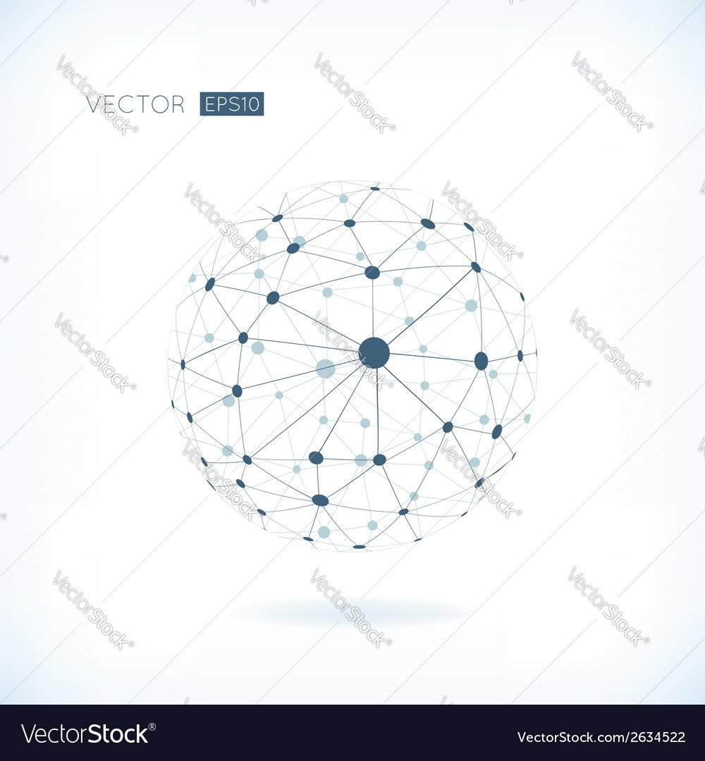 Global network background vector | Price: 1 Credit (USD $1)
