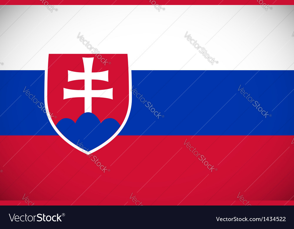National flag of slovakia vector | Price: 1 Credit (USD $1)