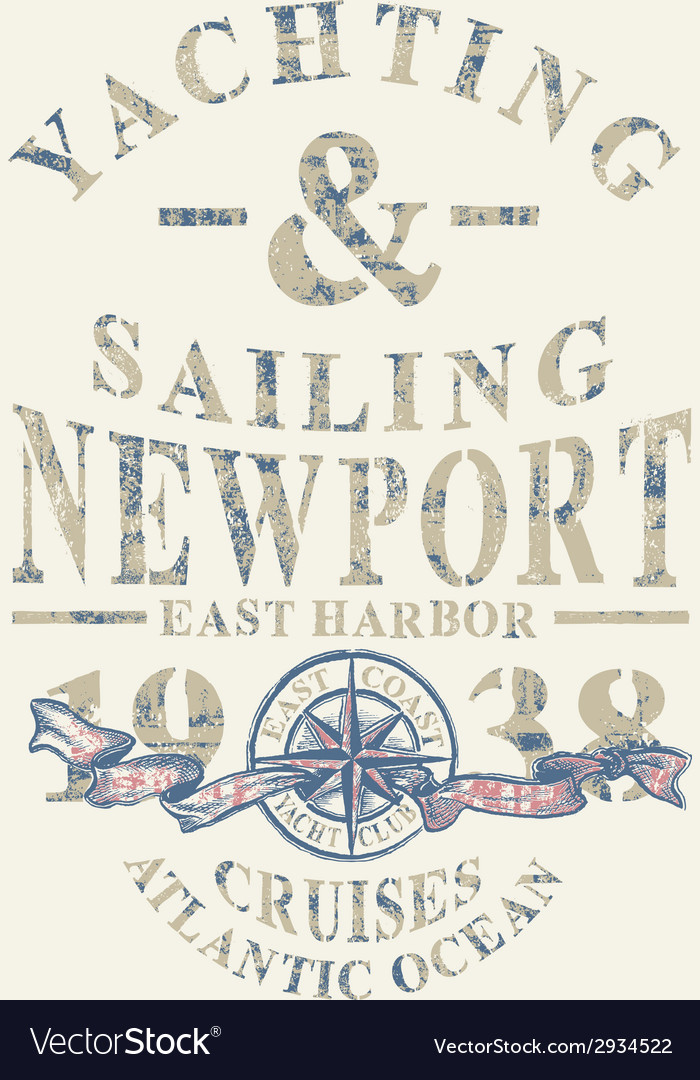 Newport yachting and sailing vector | Price: 1 Credit (USD $1)