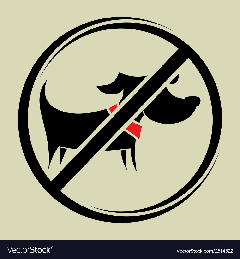 No dogs allowed2 vector | Price: 1 Credit (USD $1)