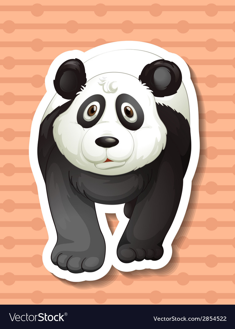 Panda vector | Price: 1 Credit (USD $1)