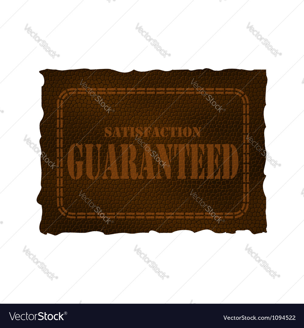 Satisfaction guaranteed vector | Price: 1 Credit (USD $1)