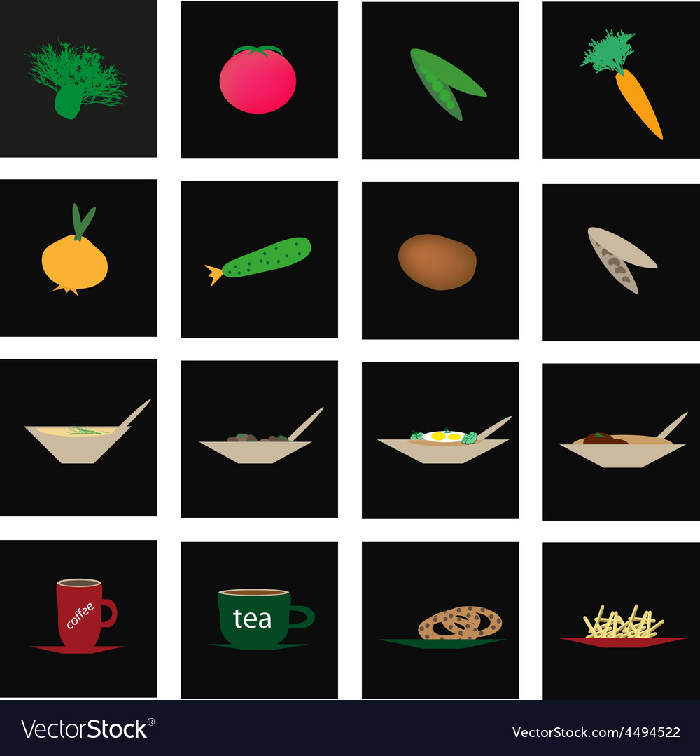 Set of icons of vegetables and culinary vector | Price: 1 Credit (USD $1)