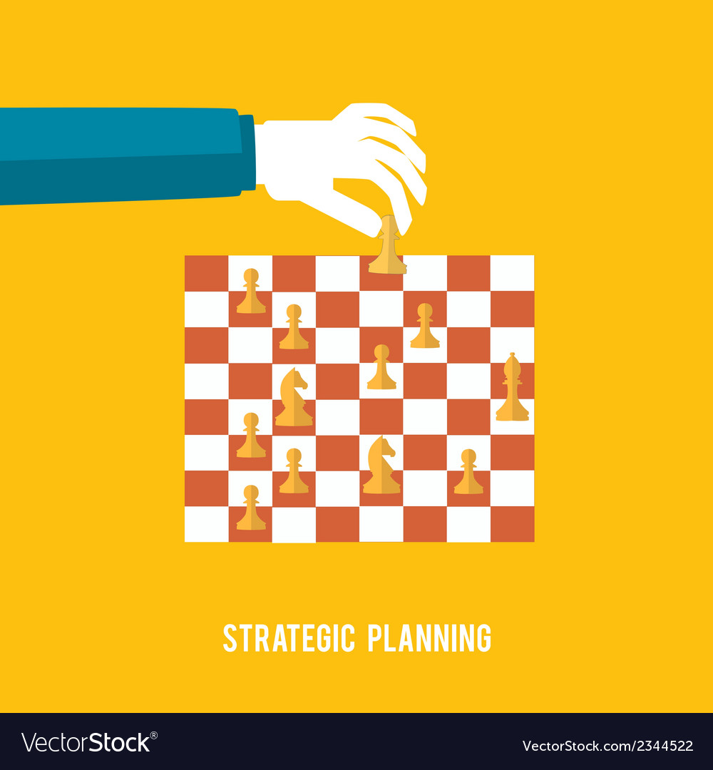 Strategy planning concept vector | Price: 1 Credit (USD $1)