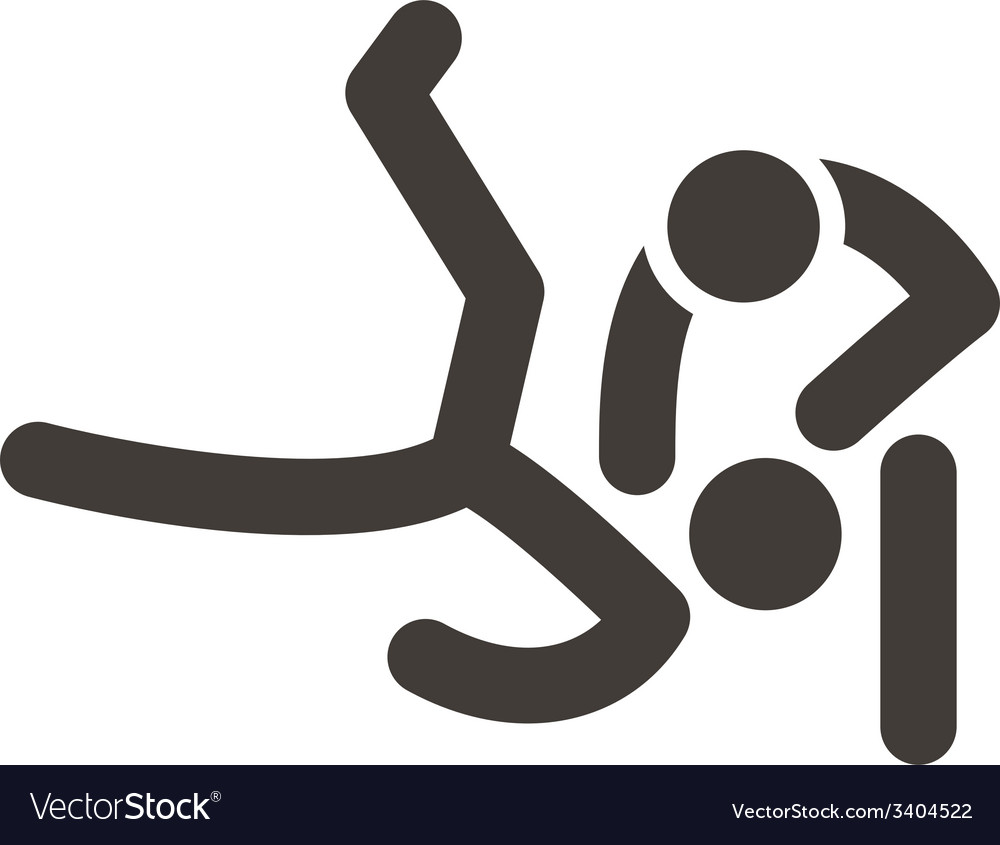 Wrestling freestyle icon vector   Price: 1 Credit (USD $1)