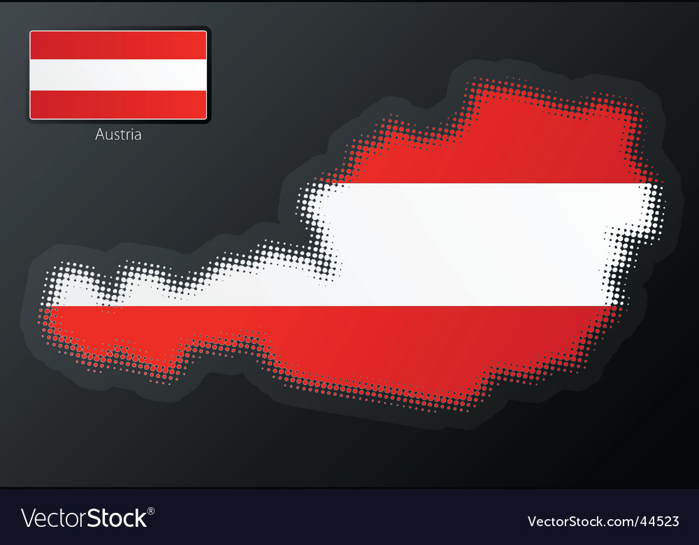 Austria modern halftone map vector | Price: 1 Credit (USD $1)