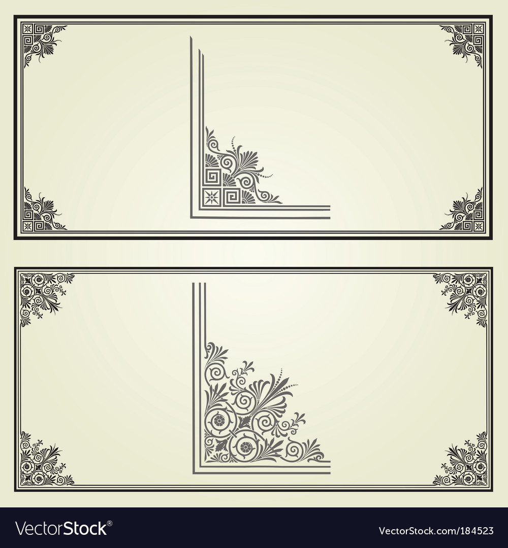 Border elements vector | Price: 1 Credit (USD $1)