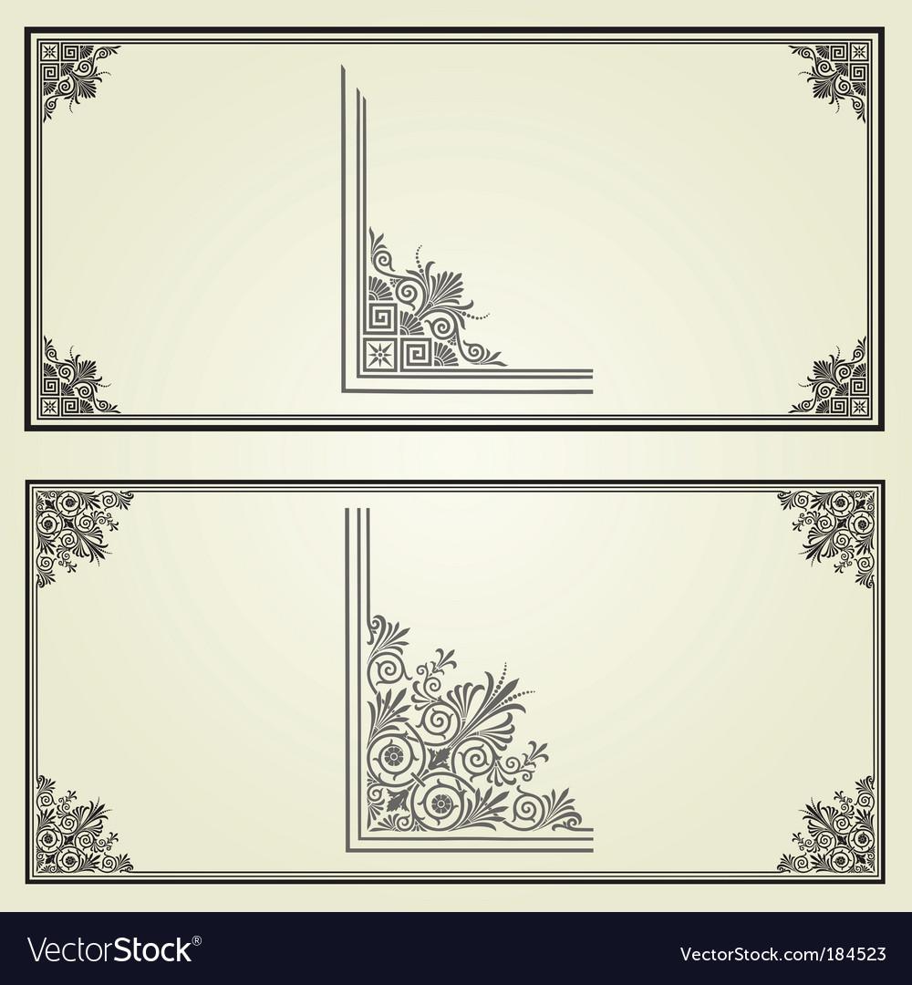 Border elements vector | Price: 1 Credit (USD $1)