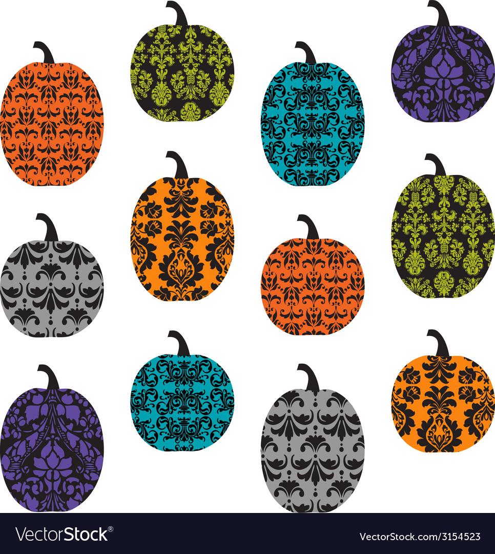 Damask pumpkins vector   Price: 1 Credit (USD $1)