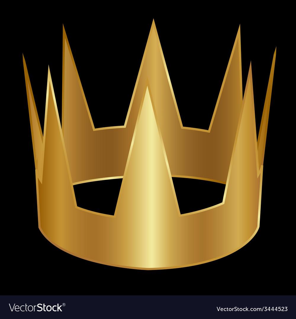Golden crown vector | Price: 1 Credit (USD $1)
