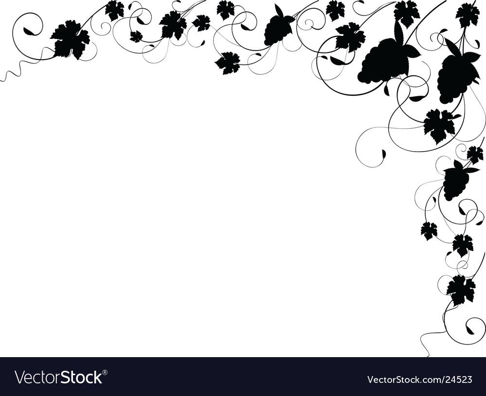 Grapevine silhouette border vector | Price: 1 Credit (USD $1)