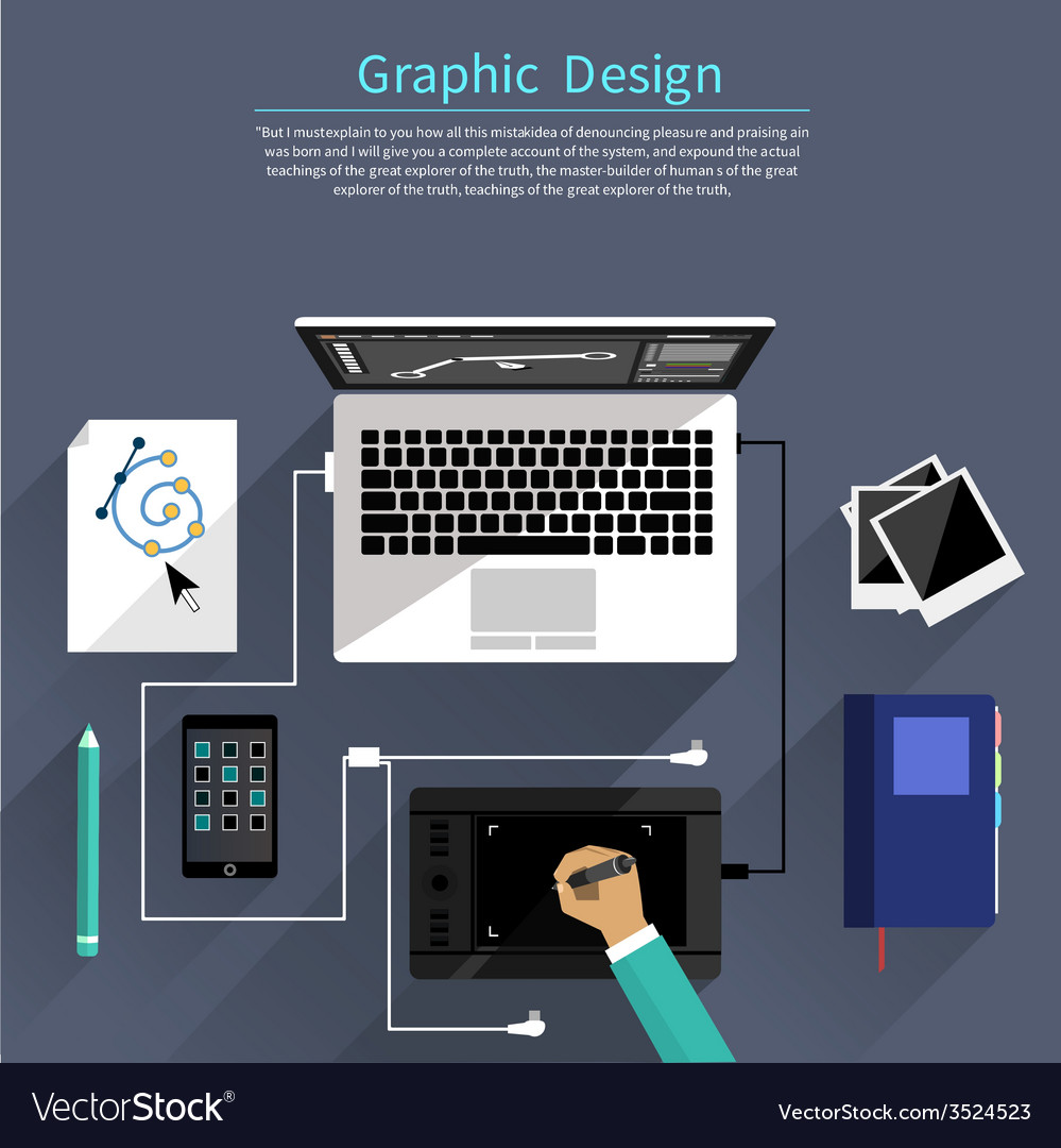 Graphic design and designer tools concept vector | Price: 1 Credit (USD $1)